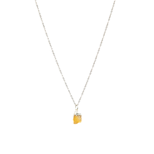 Stone of Happiness Necklace - Citrine - Small - (Gold Plated or Silver)