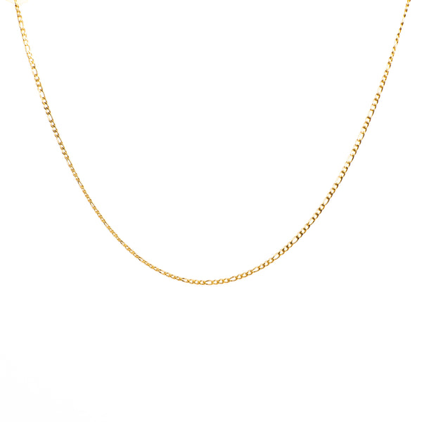 Figaro Necklace 3 mm - Silver / Gold Plated / Multicolour