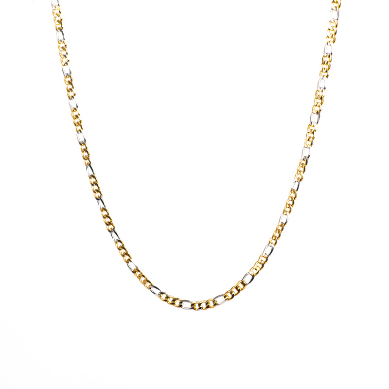 Figaro Necklace 5 mm - Silver / Gold Plated / Multicolour