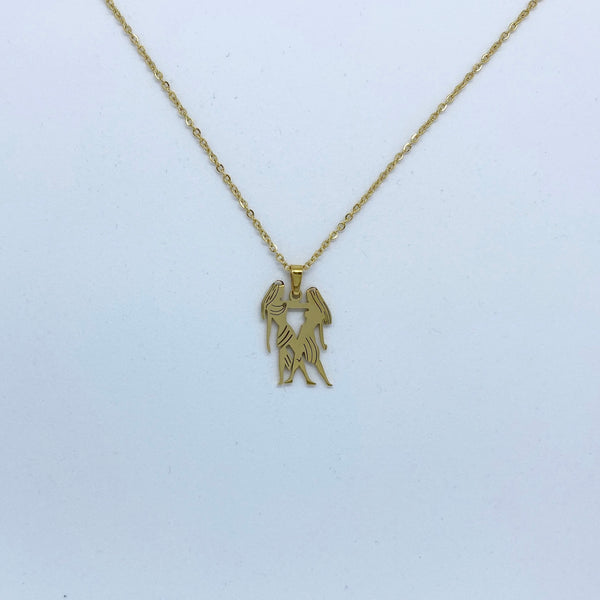 Zodiac Sign Necklace (Silver or Gold Plated) - Gemini - Wolff Jewellery