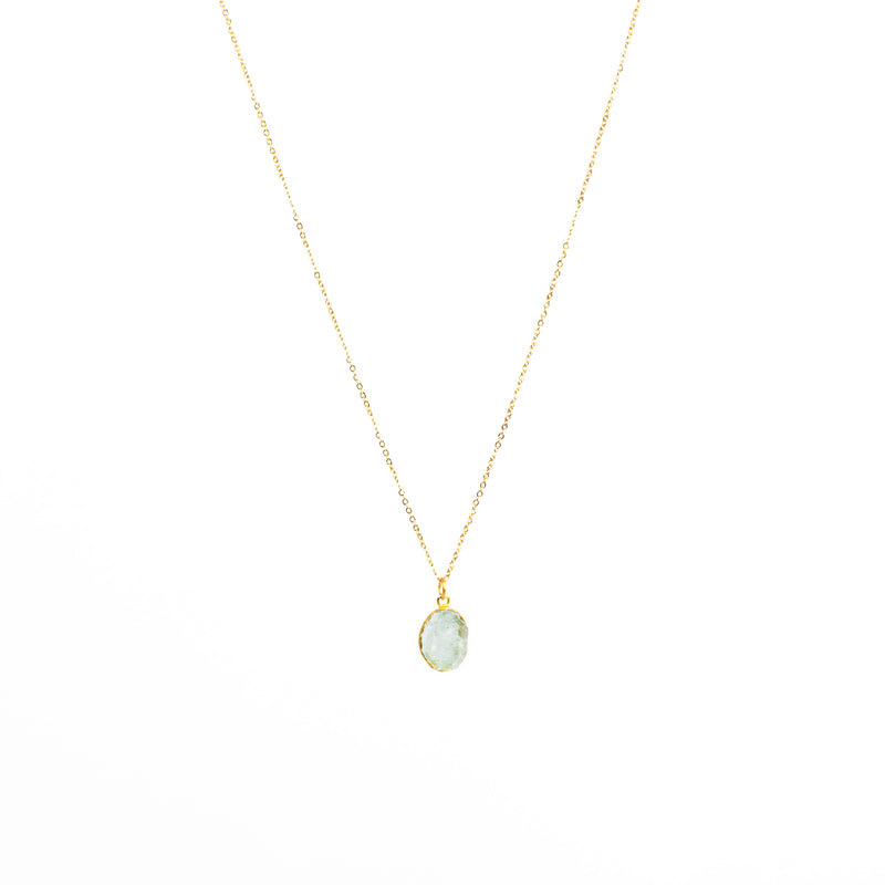 Stone of Balance Necklace - Aquamarine (Gold Plated)