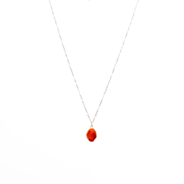Stone of Ambition Necklace - Carnelian (Silver)