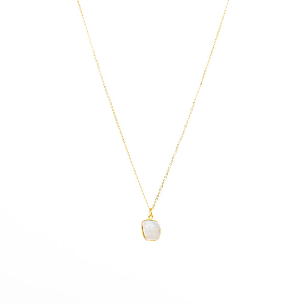 Stone of Intuition Necklace - Moonstone (Silver or Gold Plated)