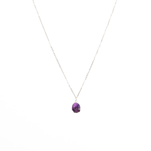 Stone of Protection Necklace - Amethyst (Silver)