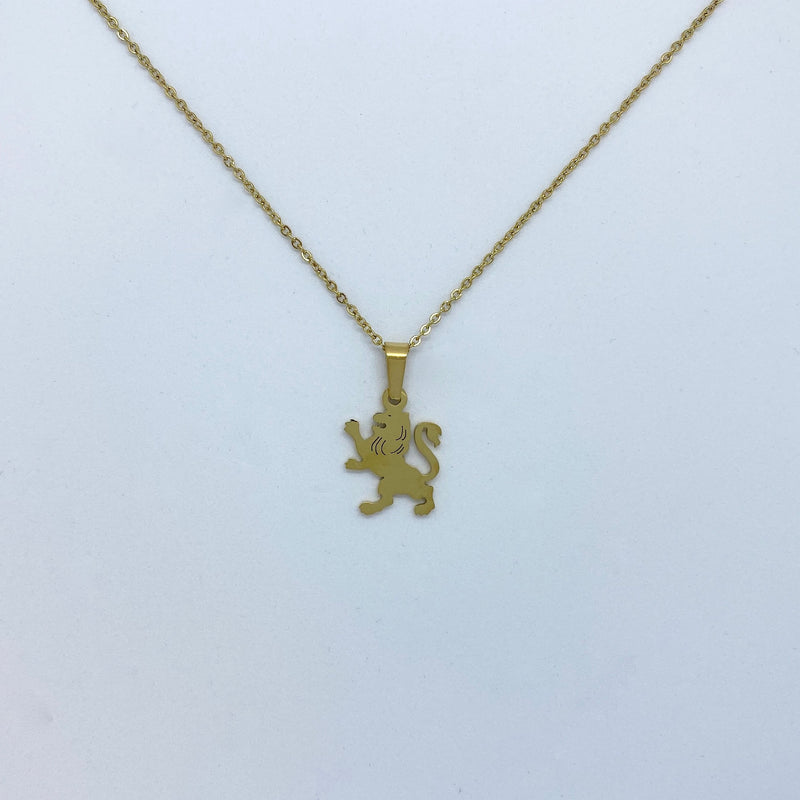 Zodiac Sign Necklace (Silver or Gold Plated) - Leo - Wolff Jewellery