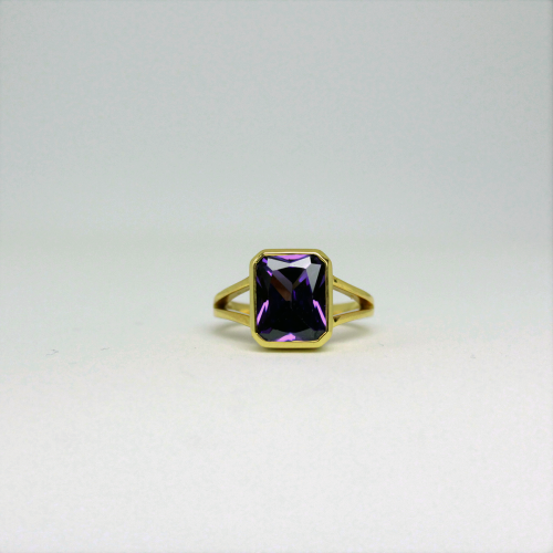 Stone of Protection Ring - Amethyst (925 Sterling Silver or Gold Plated)
