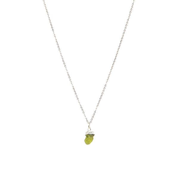 Stone of Light Necklace - Peridot - Small - (Gold Plated or Silver)