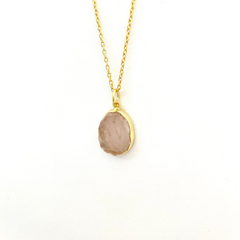 Stone of Love - Rose Quartz (Gold Plated) - Wolff Jewellery