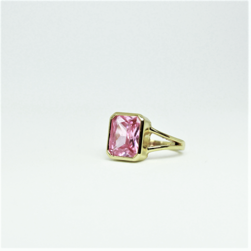 Stone of Love Ring - Rose Quartz (925 Sterling Silver or Gold Plated) - Wolff Jewellery