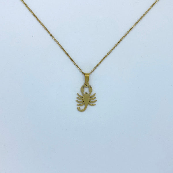 Zodiac Sign Necklace (Silver or Gold Plated) - Scorpio - Wolff Jewellery