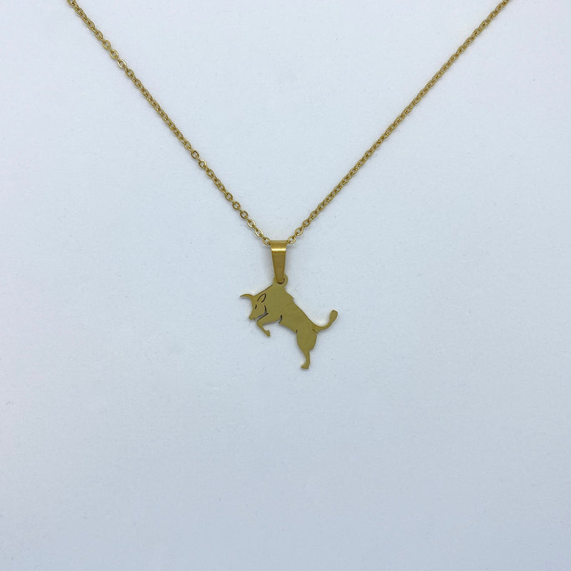 Zodiac Sign Necklace (Silver or Gold Plated) - Taurus - Wolff Jewellery
