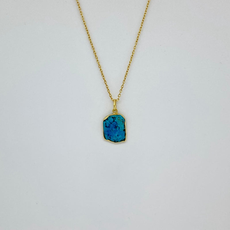 Stone of Truth - Turquoise (Silver or Gold Plated) - Wolff Jewellery