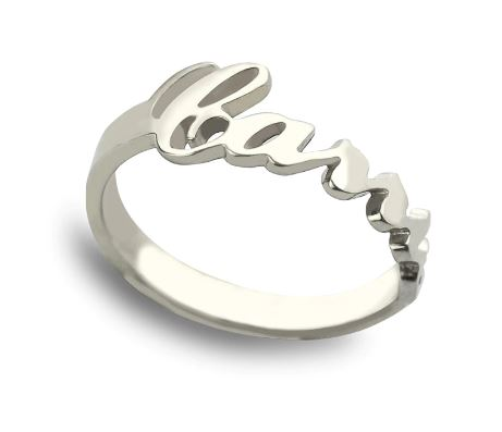 Personalised S925 Sterling Silver Ring