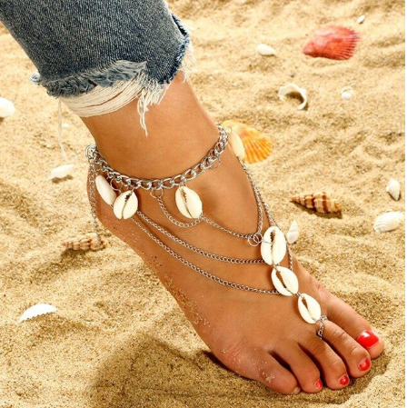 Trendy Chain and Cowrie Shell Foot And Ankle Bracelet