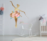 Ballerina Sparkle Reusable Couture Wall Decals