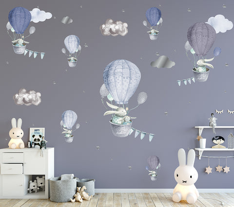 Bashful Bunnies Reusable Couture Wall Decals