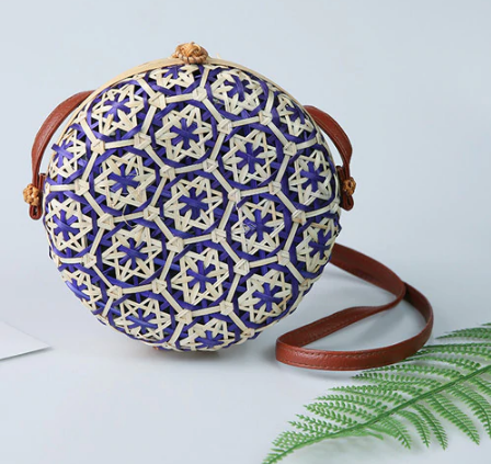 Decorative Boho Bali Style Woven Rattan Bag (5 Colours)