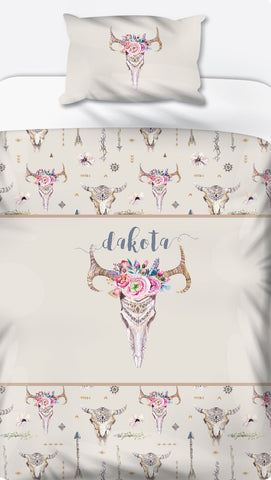 Boho Personalised Name Duvet Set