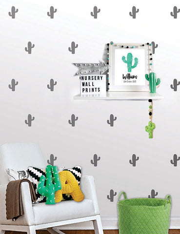 Cactus Wall Pattern Decals