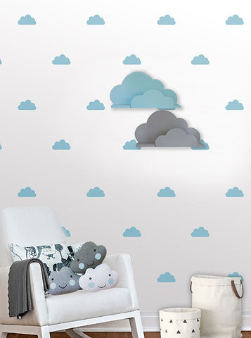 Clouds Wall Pattern Decals