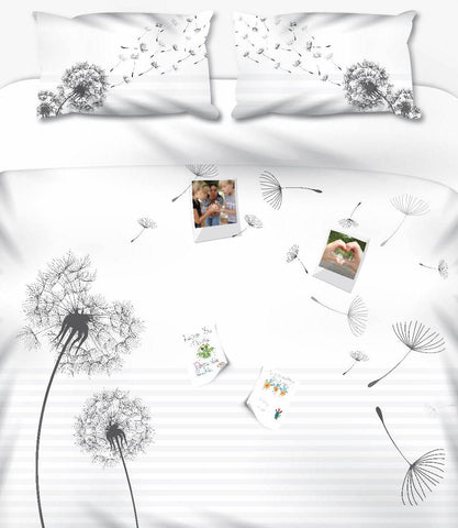 Dandelion Memories White Personalised Photo Duvet Set