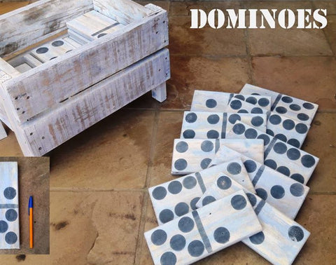 Dominoes Wooden Giant Lawn Game