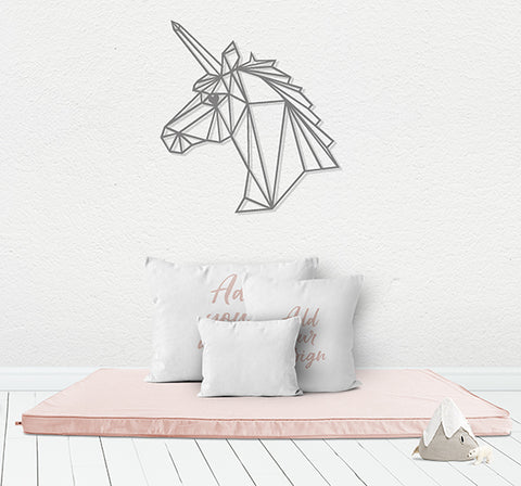 Geometric Unicorn Laser Cut Wood Wall Decor