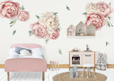 Pink Falling For Poenies Reusable Couture Wall Decals