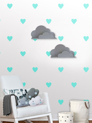 Heart Wall Pattern Decals