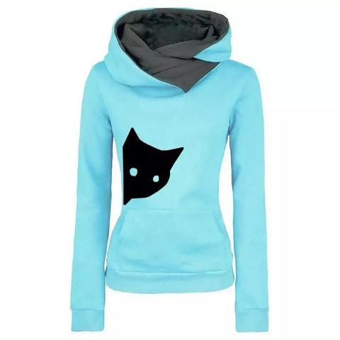 Cat Print Hoodie (4 colour choices)