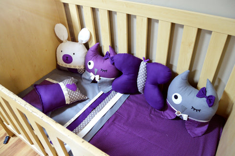 Purple Forest Friends Themed Decor Cushions