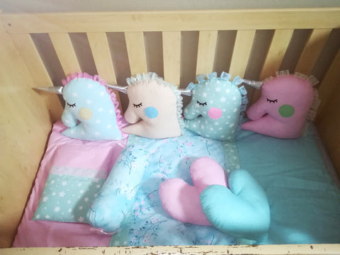 Pastel Unicorn Friends Themed Decor Cushions