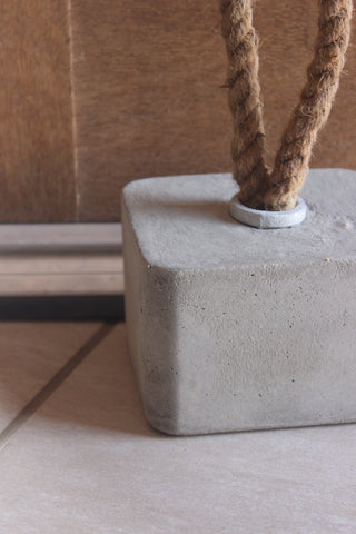 Cement & Rope Door Stopper