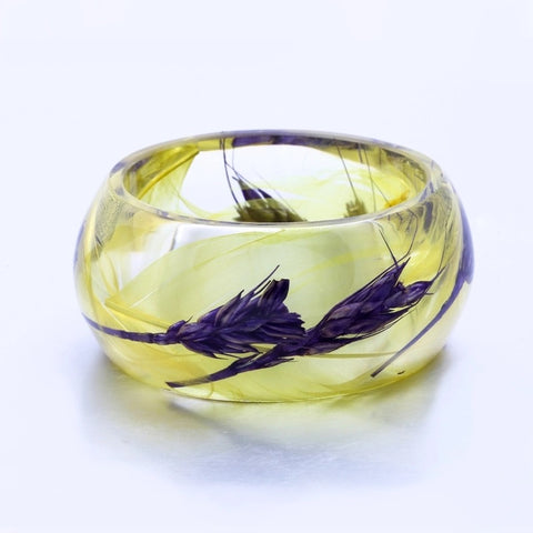 Feathers & Wheat Resin Bangle