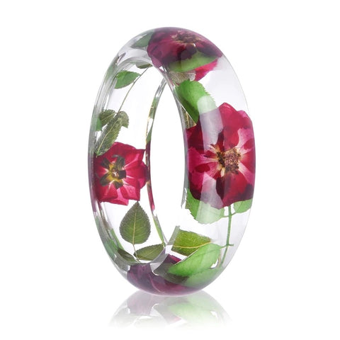 Rose Resin Bangle