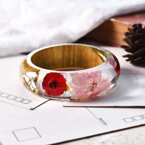 Botanical Resin Bangle