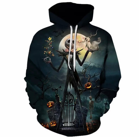 Nightmare Before Christmas Jack Skellington 3D Hoodie