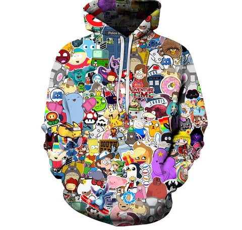 Animation Collection 3D Hoodie