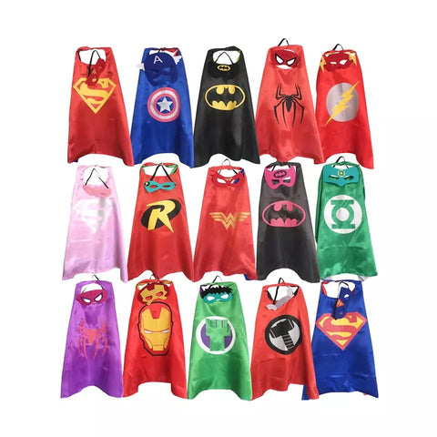 Kids Cape & Mask Set (50+ characters available)