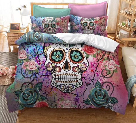 Candy Skull Colour Duvet Set