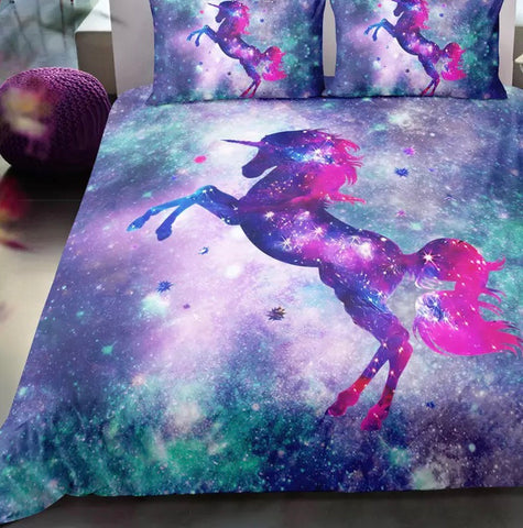 Galaxy Unicorn Duvet Set
