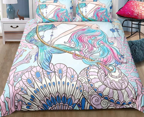 Pastel Mermaid Duvet Set