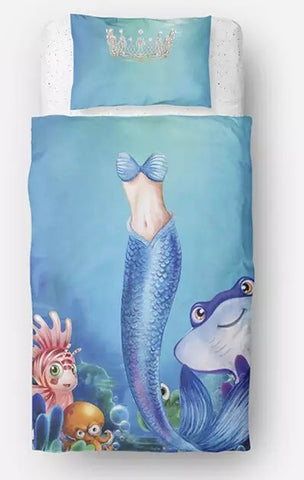 Mermaid Princess Duvet Set