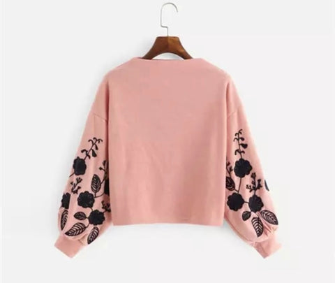 Damask Floral Pullover (3 colour choices)