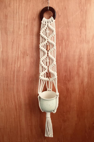 Macrame Single Hanging Planter