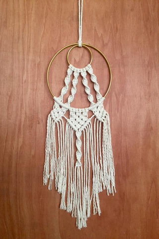 Macrame Brass Rings Dream Catcher