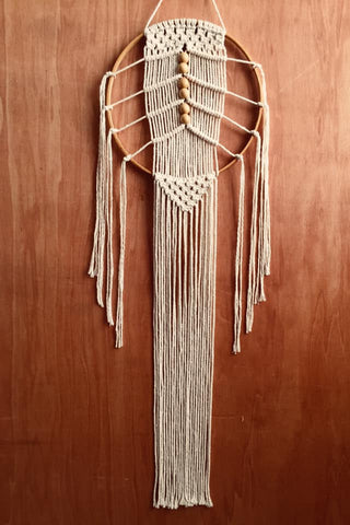 Macrame Beaded Dream Catcher