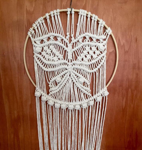Macrame Butterfly Dream Catcher