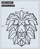 Geometric Lion Laser Cut Wood Wall Decor