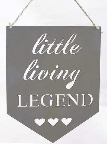 "Little Living Legend ""Hearts"" Wall Plaque"
